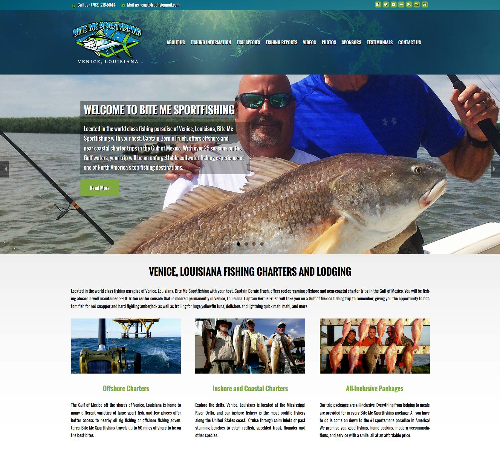 Ragasmedia website design and media production case for Sport fishing near me